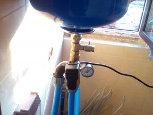 Установка кессона Ввод воды в дом
